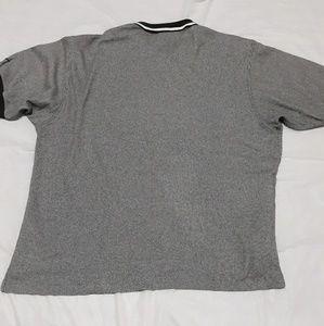 Vtg 90's Nike Golf Pinstripe Hi-Lo Polo T-shirt XL